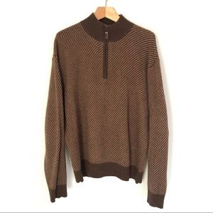 Orvis Wool and Camel Hair Quarter Zip Size L